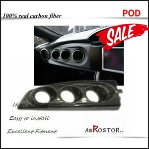 CARBON FIBER RHD BLITZ STYLE DASH TRIPLE GAUGE POD FOR FT86 GT86 FRS BRZ 60MM