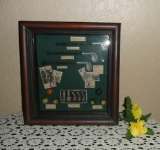 NICE FRAMED SHADOW BOX, VINTAGE GOLF THEME, THE HISTORY OF SPORT'S SPORTING GOLF