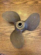 "Antique Solid Bronze Brass 3 Blade Michigan Boat Propeller 5/8"" Arbor SMC 709"