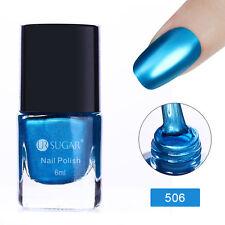 6ml Metallic Nail Art Polish Mirror Blue Metal Varnish UR SUGAR Nails Tools