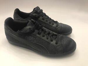 Puma Smash Knit C Mens Solid Black Lace Up Fashion Sneaker Shoes 36545803 US 7.5