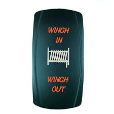 LED MOM WINCH SWITCH Laser ORANGE LED Rocker On/Off Switch UTV TRUCK POLARIS RZR
