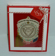 Lenox Ornament THANK YOU FOR YOUR SERVICE NEW In Box Christmas