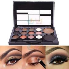 Natural 14 Color Warm Party Women Make Up Eyeshadow Blush Palette with Brush