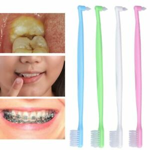 Double Ended Orthodontic Toothbrush Brushing Toothbrush Oral Dental Brace Care`