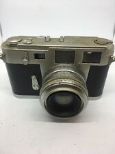 Aires 35 IIIc 35mm Rangefinder Camera with H Coral 45mm f/1.9 As-Is For Parts