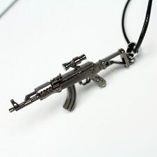 NEW 3D Avtomat Kalashnikova AK47 Gun Replica Toy Assault Rifle Pendant Necklace