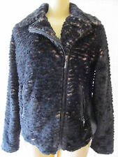 $199 ADRIENNE LANDAU BLACK & BROWN LONG SLEEVE FAUX FUR JACKET SIZE 3 X - NWT