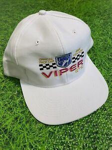 Dodge Viper GTS 1996 Indy 500 Official Pace Car Cap Hat White Snapback Hat Cap