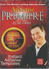 AdSense Premiere: Instant AdSense Templates Volume 3 AUDIO BOOK CD Joel Comm NEW