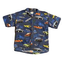 Vintage David Carey Originals Mopar 383 Sportscar Button SS Shirt, Mens Size XL