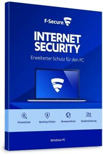 F-Secure Internet Security 2021 -1/3/5 Geräte -1/2/3 Jahre Laufzeit - ESD Lizenz