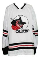 Any Name Number Size Columbus Owls Custom Retro Hockey Jersey White