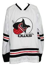 Custom Name # Columbus Owls Retro Hockey Jersey New White Any Size
