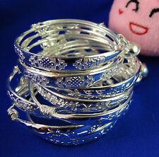 Hot Silver baby kids Chinese knot bell Bracelet Bangle Anklet 10pcs