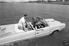 1965-President Lyndon B. Johnson driving an Amphicar w/  Eunice Kennedy Shriver
