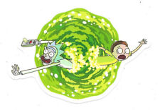 Rick and Morty TV Series Portal Jumping Peel Off Image Sticker Decal NEW UNUSED