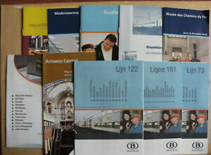 10 Belgian Railway Train Timetables Maps Leaflets 2004 - 2010 SNCB NMBS Set 2