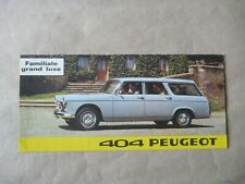 1966 PEUGEOT 404 BREAK Catalogue Brochure Prospekt French
