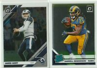 2019 DONRUSS OPTIC Darrell Henderson RATED ROOKIE + Jared Goff LA Rams