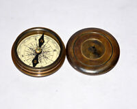 Antique vintage brass compass maritime marine poem compass collectible gift