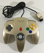 Official OEM GOLD Controller Nintendo 64 N64 Clean Tested Working Tight Stick