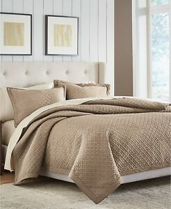 Croscill Home Fulton Contemporary Quilted FULL/QUEEN Quilt TAUPE Bedding i2124
