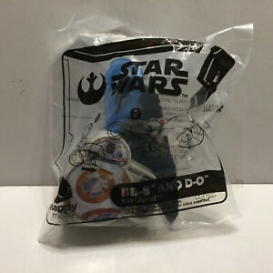 New Unopened Star Wars McDonalds BB-8 & D-O Happy Meal Toy Hangers