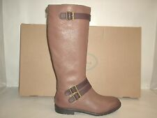 Montana Size 10 M GAVYN Tan Leather Knee High Boots New Womens Shoes