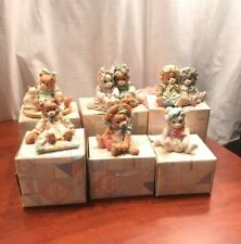 Set of 6 Collectible Calico Kittens Figurines By Enesco 1992