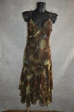 ROBE DOS NU SEPIA TAILLE 36/38 /M DRESS/ABITO/VESTIDO/KLEID  BE