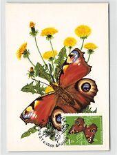 UNGARN MK 1969 SCHMETTERLINGE BUTTERFLY MAXIMUMKARTE MAXIMUM CARD MC CM d9321