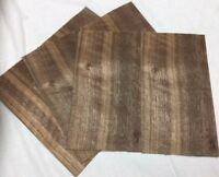 "Walnut Wood Veneer, Raw/Unbacked - Pack of 3 - 12"" x 12"" x 0.042"" Sheets"