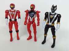"Power Rangers RPM Toy Action Figures 6"" Red Eagle Black Wolf 3pc Lot Bandai 2008"