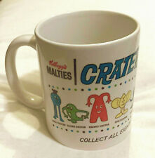 CRATER CRITTERS COFFEE MUG  Version 1 -- RETRO 1968 R&L CEREAL TOY SPACE THEME