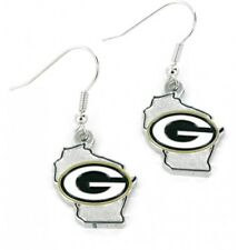 Green Bay Packers Earring Ear Ring State Shaped Dangle FAST USA SHIPPING