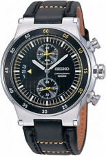 Seiko mens watches caliber 7T94 calendar special date  black face SNN123