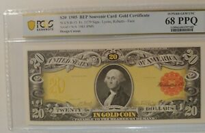 $20 1905 BEP Gold Coin Cert PCGS Graded 68 PPQ Superb Gem