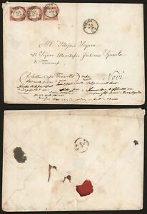Italy 1859 - Large Cover Torino to Novi D291