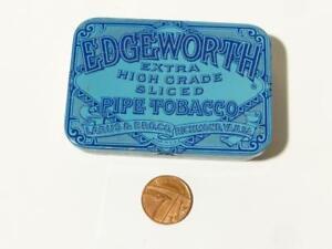 EMPTY Blue Edgeworth Pipe Tobacco VESTA Tin by Larus & Bro. Co. USA #2 *