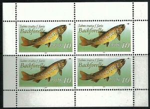GERMANY DDR - 1987 Freshwater Fish 10 Sheetlet of of 4 MNH