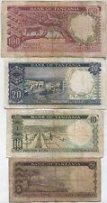 Bank Of Tanzania 5,10,20 & 100 Shilingi Bank Notes***Collectors***(T4)