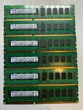 Samsung 24GB (6x4GB) 2Rx8 PC3-10600R DDR3 DIMM Server RAM M393B5273CH0-CH9