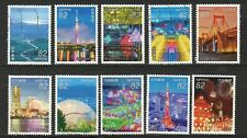 JAPAN 2016 JAPANESE NIGHT VIEWS SERIES NO. 2 COMP. SET OF 10 STAMPS IN FINE USED