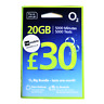 O2 Sim Cards, Pay As You Go, 20GB Data 5000 mins 5000 texts, 30 days, £30 Top Up