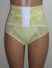 J NEW Yellow Power-net Panty Girdle Brief Front Hook Waist Cincher 28W M