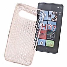 Silikon TPU Handy Cover Case Hülle Schale Schutzhülle  in Foggy für HTC HD7