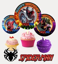 12 Birthday Spiderman Inspired Party Picks, Cupcake Toppers #1