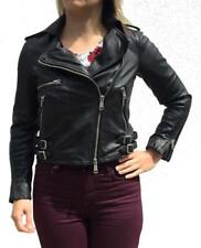 *NWOT* ALL SAINTS HIGGENS LEATHER BIKER JACKET UK 10/US 6 RRP £380 $670