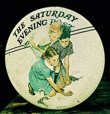 Norman Rockwell Saturday Evening Post Marbles Champion Tin Collector`s Series 1